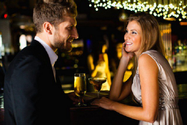 Signs a man is flirting with a woman